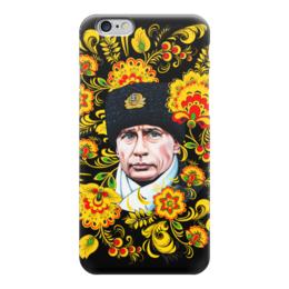 """Чехол для iPhone 6 """"Путин – Хохлома"""" - любовь, москва, владимир, россия, патриотизм, политика, путин, президент, хохлома, putin"""