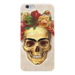 """Чехол для iPhone 6 """"Frida Forever"""" - череп, любовь, цветы, татуировка, фрида"""