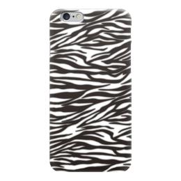 """Чехол для iPhone 6 глянцевый """"Зебра"""" - зебра, звериный, узор, стиль, рисунок"""