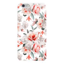 """Чехол для iPhone 6 глянцевый """"Цветы"""" - цветы"""