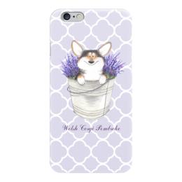 "Чехол для iPhone 6 ""Корги и лаванда"" - цветы, собака, собаки, лаванда, корги"