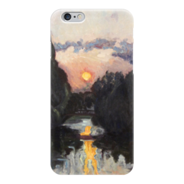"Чехол для iPhone 6 ""Сумерки над озером"" - картина, бакст"