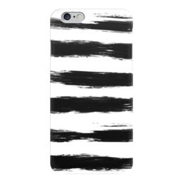 """Чехол для iPhone 6 глянцевый """"Полоски"""" - абстракция, полосатый, полоски, черно-белый"""