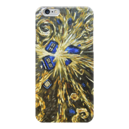 "Чехол для iPhone 6 ""Тардис Ван Гога (Van Gogh Tardis)"" - сериал, машина времени, time machine, полицейская будка"