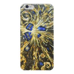 "Чехол для iPhone 6 ""Тардис Ван Гога (Van Gogh Tardis)"" - сериал, машина времени, time machine, полицейская будка"