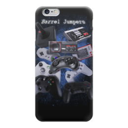 "Чехол для iPhone 6 глянцевый ""Barrel Jumpers"" - ностальгия, игры"