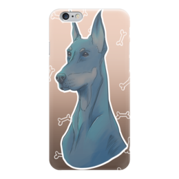 """Чехол для iPhone 6 """"Доберман"""" - кости, собака, животное, doberman, доберман, an"""