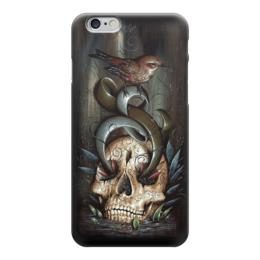 """Чехол для iPhone 6 """"Skull Art"""" - skull, череп, птица, фэнтази, арт дизайн"""