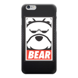 "Чехол для iPhone 6 глянцевый ""Мишка (Bear, Obey)"" - bear, мишка, obey, ted, медведь"