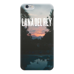 """Чехол для iPhone 6 """"Lana Del Rey"""" - природа, закат, lana del rey, лана, лана дель рей"""