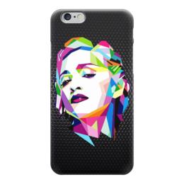"Чехол для iPhone 6 глянцевый ""Мадонна (Madonna)"" - полигоны, polygons, madonna, мадонна"