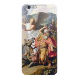 "Чехол для iPhone 6 глянцевый ""Валаамова ослица (картина Рембрандта)"" - рембрандт, картина, ветхий завет, библия"