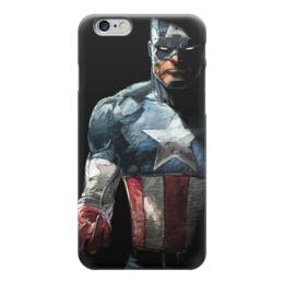 """Чехол для iPhone 6 """"Капитан Америка"""" - комиксы, кэп, марвел, капитан америка, captain america"""