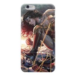 "Чехол для iPhone 6 глянцевый ""Чудо-Женщина & Харли Квинн"" - dc comics, harley quinn, wonder woman, комиксы, харли квинн"