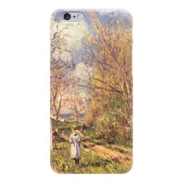 """Чехол для iPhone 6 """"Лужайки весной"""" - картина, сислей"""