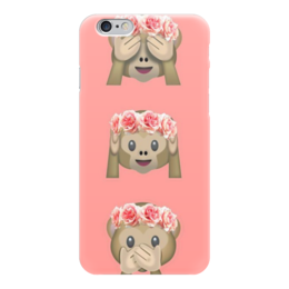 """Чехол для iPhone 6 """"Обезьянки"""" - цветы, обезьянка, милость"""