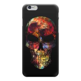 """Чехол для iPhone 6 """"Череп в цветах"""" - череп, цветы, радуга, мандала, ckull"""