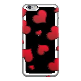 "Чехол для iPhone 6 ""Сердечки"" - сердце, любовь, сердечки, красное"