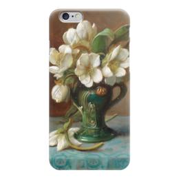 "Чехол для iPhone 6 ""Пионы в вазе"" - картина, зацка"