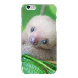 """Чехол для iPhone 6 """"Ленивец"""" - ленивец, детеныши"""