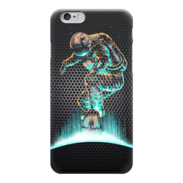 "Чехол для iPhone 6 ""Космонавт на Скейте"" - skate, space, skateboard, космонавт"