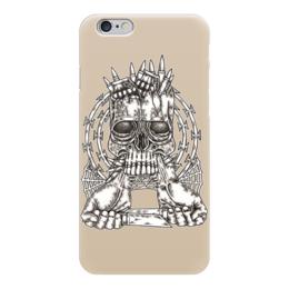 """Чехол для iPhone 6 """"Skull Art"""" - skull, череп, ножи, колючая проволока, гранаты"""