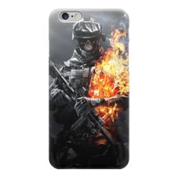 "Чехол для iPhone 6 ""Battlefield"" - война, солдат, battlefield, военный, баттлфилд"