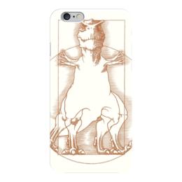 """Чехол для iPhone 6 """"Витрувианский динозавр"""" - животные, динозавр, витрувианский динозавр, леонардо да винч"""