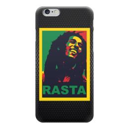 "Чехол для iPhone 6 ""Боб Марлей (Bob Marley)"" - rasta, раста, bob marley, боб марлей"