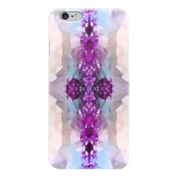 """Чехол для iPhone 6 """"Аметисты"""" - серый, белый, голубой, фиолетовый"""