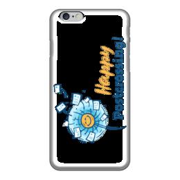 """Чехол для iPhone 6 глянцевый """"Happy Postcrossing!"""" - postcrossing, посткроссинг, почтовые открытки"""