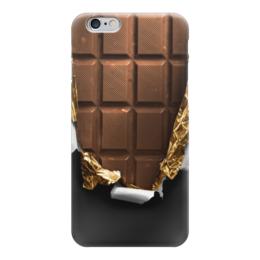 "Чехол для iPhone 6 ""Шоколадка"" - шоколад, фольга"