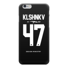 "Чехол для iPhone 6 глянцевый ""KLSHNKV 47 by DESIGN MINISTRY"" - iphone, калашников, ак47, ak47, designministry"