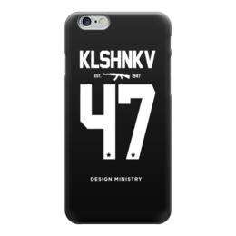 """Чехол для iPhone 6 """"KLSHNKV 47 by DESIGN MINISTRY"""" - iphone, ак47, калашников, ak47, designministry"""