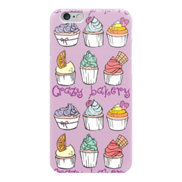 "Чехол для iPhone 6 ""Crazy Bakery"" - фиолетовый, cupcake, капкейки, crazy bakery"