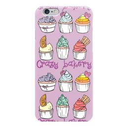 """Чехол для iPhone 6 """"Crazy Bakery"""" - фиолетовый, cupcake, капкейки, crazy bakery"""