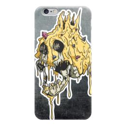 """Чехол для iPhone 6 """"Gold skull"""" - skull, череп, золото, смерть, gold"""
