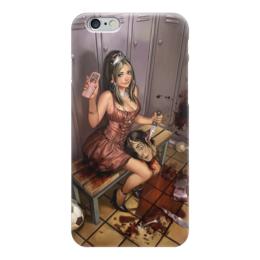 "Чехол для iPhone 6 ""Horror Art"" - девушка, zombie, зомби, страх, ужас, girl, кровь, blood, девочка, death"