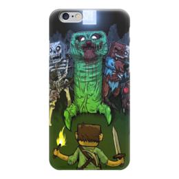 "Чехол для iPhone 6 глянцевый ""Minecraft (Майнкрафт)"" - creeper, noob, mob, zombie, зомби"