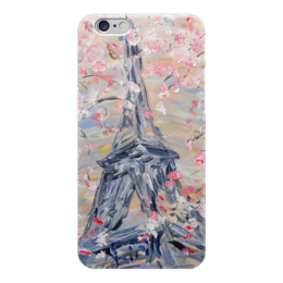 """Чехол для iPhone 6 """"Париж"""" - весна, девушке, франция, париж, эйфелева башня"""