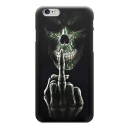 "Чехол для iPhone 6 ""Skull Art"" - skull, череп, фак ю, fuck you, арт дизайн"