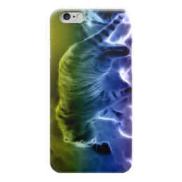 "Чехол для iPhone 6 глянцевый ""тигрица"" - природа, огонь, фентази, животные, тигр"