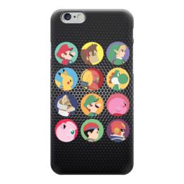 """Чехол для iPhone 6 глянцевый """"Все герои Nintendo!"""" - nintendo, mario, donkey kong, марио, зельда"""