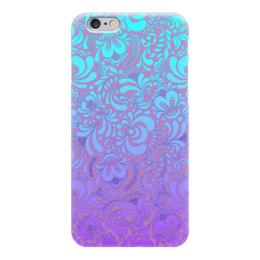 """Чехол для iPhone 6 глянцевый """"Мираж"""" - рисунок, роспись, гжель"""
