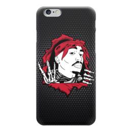 """Чехол для iPhone 6 глянцевый """"Тупак Шакур (2pac)"""" - rap, рэп, хип-хоп, тупак, 2pac"""