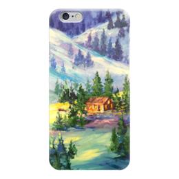 """Чехол для iPhone 6 """"Новогоднее настроение"""" - новый год, зимний пейзаж, валерия меценатова"""
