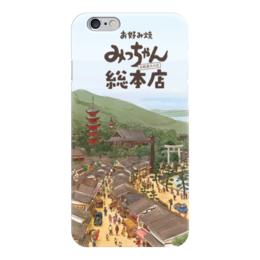 """Чехол для iPhone 6 """"Страна восходящего солнца"""" - солнце, страны, город, япония, иероглифы"""