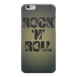 """Чехол для iPhone 6 глянцевый """"Rock N Roll"""" - rock n roll, рок музыка, хеви метал, heavy metal, арт"""