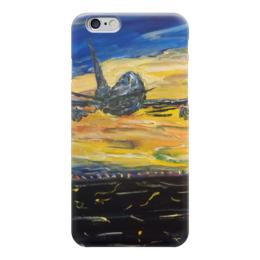 """Чехол для iPhone 6 """"Самолет"""" - полет, красота, sky, закат, самолет, в небе, airplane, flight"""