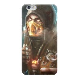 "Чехол для iPhone 6 глянцевый ""Скорпион"" - мортал комбат, скорпион, игры"